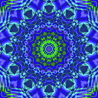 Photograph - Green Blue Kaleidoscope by Ludek Sagi Lukac