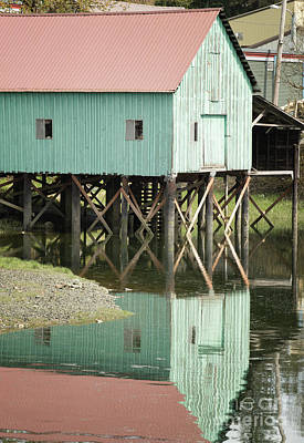 Photograph - Green Boat House Petersburg by Loriannah Hespe