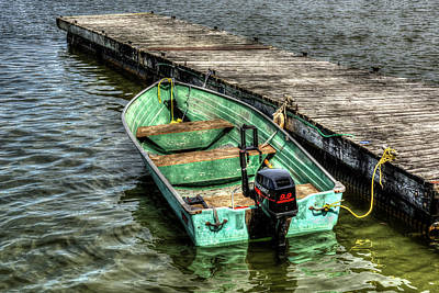 Photograph - Green Boat by Irwin Seidman