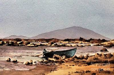 Painting - F 771  Green Boat On Lough Cullen, Mayo.. by Val Byrne