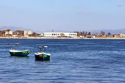 Photograph - Green Boats by Munir Alawi