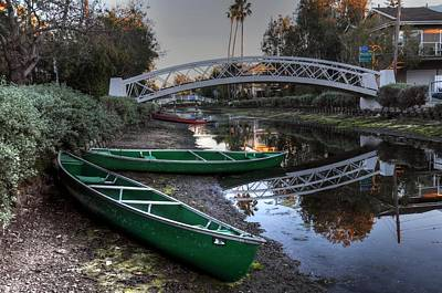 Photograph - Green Boats by Richard Omura