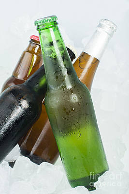 Photograph - Green Bottle Of Beer by Deyan Georgiev
