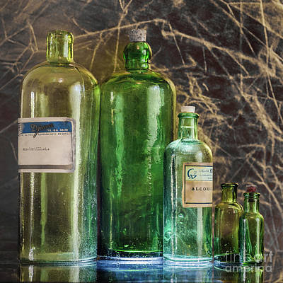 Photograph -  Green Bottles by Werner Padarin