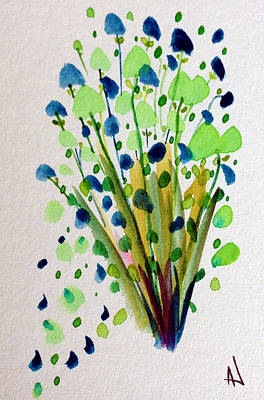 Painting - Green Bouquet by Patricia Lazaro
