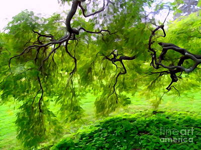 Digital Art - Green Branch Beauty by Ed Weidman
