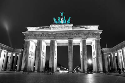 Digital Art - Green Brandenburg Gate Popped by Nathan Wright