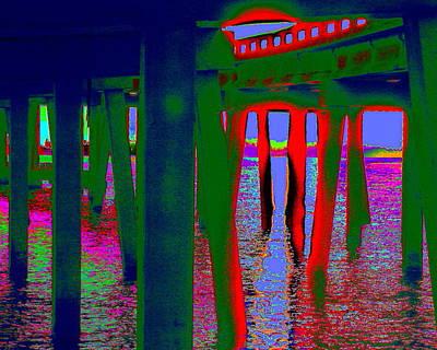 Digital Art - Green Bridge by Larry Beat