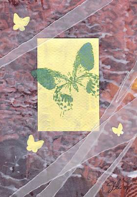 Green Butterfly Art Print by Jennifer Bonset