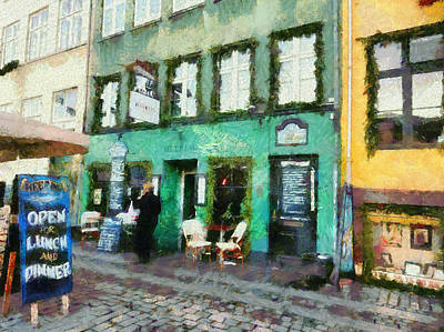 Photograph - Green Cafe Copenhagen by Dorothy Berry-Lound