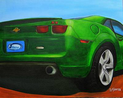 Painting - Green Camero by Dean Glorso
