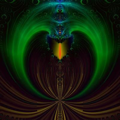 Green Candle Art Print by Sfinga Sfinga