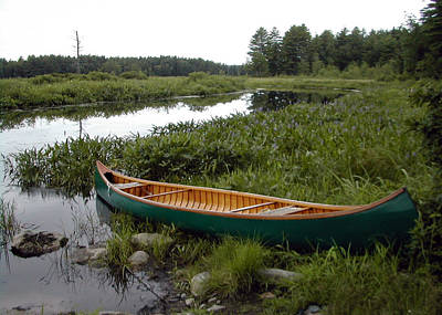 Photograph - Green Canoe And Nh Marsh by Betsy Derrick