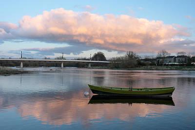 Green Canoe Photograph - Green Canoe U.l Limerick Ireland by Pierre Leclerc Photography