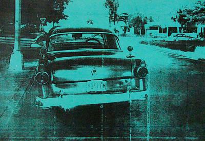 Screen-print Photograph - Green Car by David Studwell