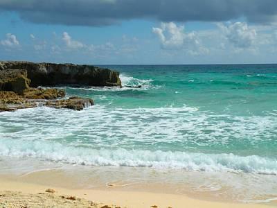 Abstract Shapes Janice Austin Royalty Free Images - Green Caribbian Sea Royalty-Free Image by Rosalie Scanlon