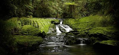 Green Cascade Art Print by Peter Prue