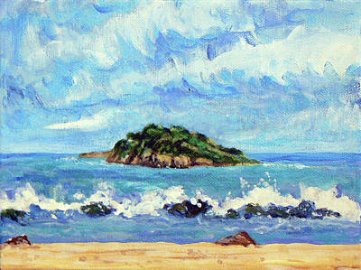 St. Croix Painting - Green Cay by Ted Billups