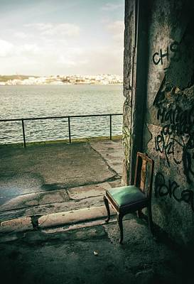 Photograph - Green Chair By A Green River by Carlos Caetano