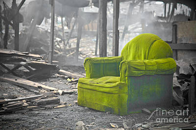 Photograph - Green Chair by Derek Selander