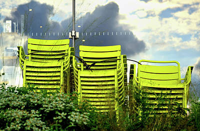 Photograph - Green Chairs. by David Gilbert