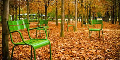 Green Chairs Art Print by Sharon Yanai