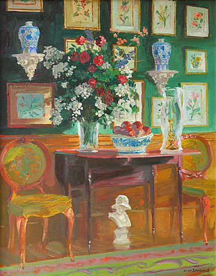 Furniture Painting - Green Chairs by William Ireland