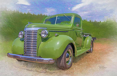 Photograph - Green  Chevy  Pickup Truck by Bill Posner
