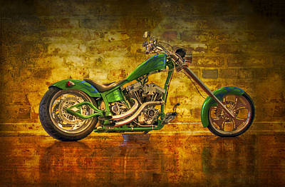 Green Chopper Print by Debra and Dave Vanderlaan