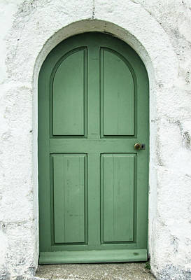 Green Church Door Iv Art Print