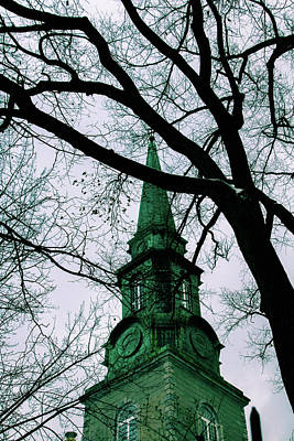 Photograph - Green Church Tower by Perggals - Stacey Turner