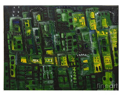 Green Cities Art Print by Maria Curcic