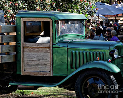 Digital Art - Green Classic Truck by Kirt Tisdale