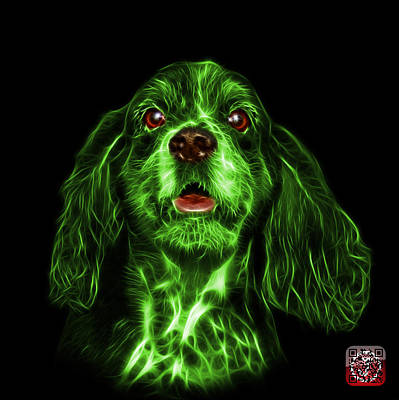 Mixed Media - Green Cocker Spaniel Pop Art - 8249 - Bb by James Ahn