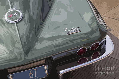 Photograph - Green Corvette by Dennis Hedberg