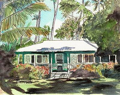 Green Cottage Art Print