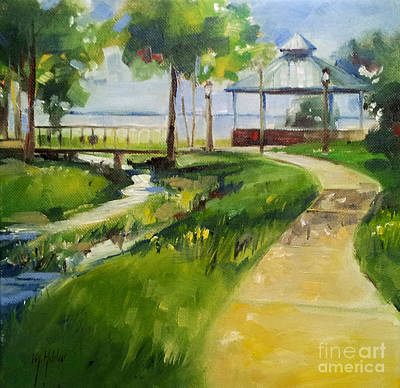 Painting - Green Cove Springs Park by Mary Hubley
