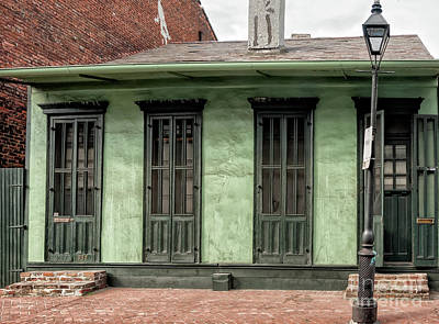 Photograph - Green Creole Cottage New Orleans by Kathleen K Parker