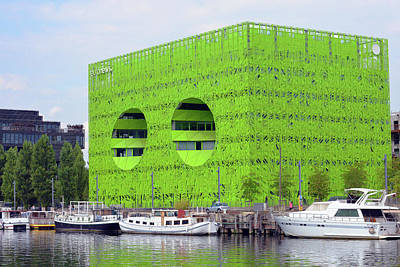 Photograph - Green Cube by Harvey Barrison