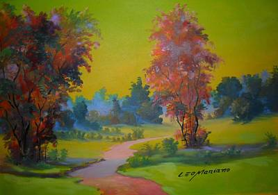 Painting - Green Day In Pasargada by Leomariano artist BRASIL