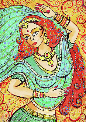 Painting - Green Devi by Eva Campbell