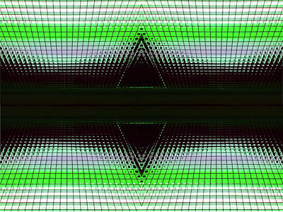 Photograph - Green Doble Delta Abstract by Mary Bedy