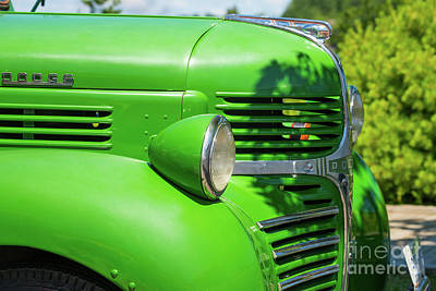 Photograph - Green Dodge Truck by Les Palenik