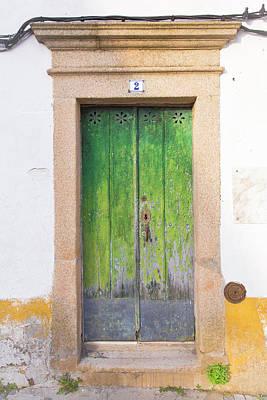 Photograph - Green Door 2 by Edgar Laureano