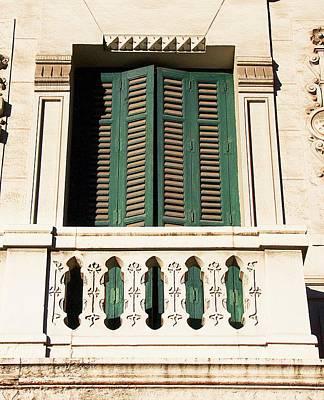 Photograph - Green Door And Balcony Madrid by David Resnikoff