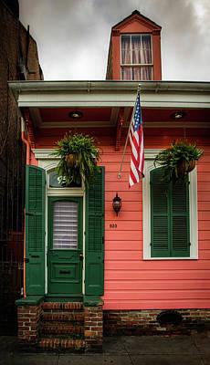 Shotgun Houses Wall Art - Photograph - Green Door And Shutters by Greg Mimbs