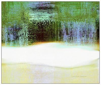 Mixed Media - Green Door Beyond Winter by Lenore Senior