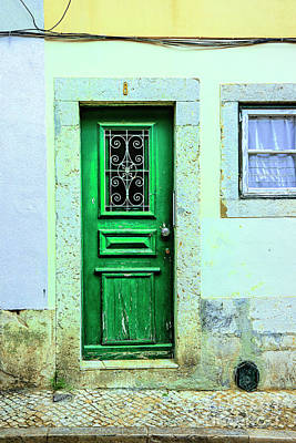 Photograph - Green Door Blue Window by Rick Bragan