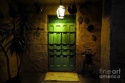 Moroccan Digital Art - Green Door by David Lee Thompson