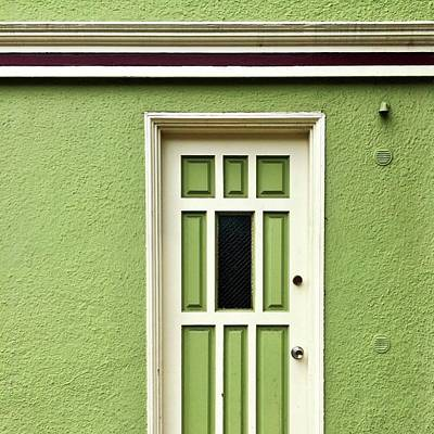 Wall Art - Photograph - Green Door Detail by Julie Gebhardt